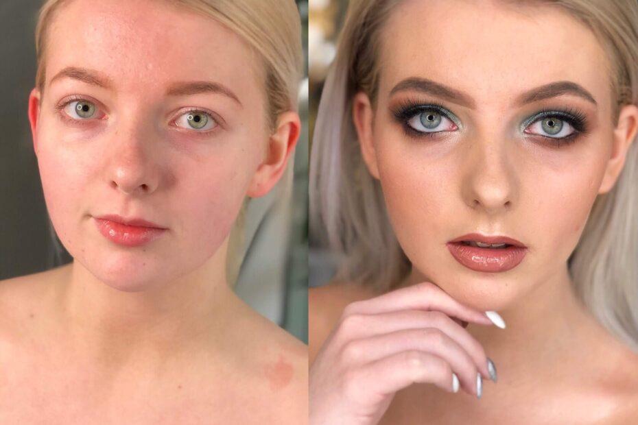 makijaż Wrocław i metamorfoza młodej kobiety z pomocą profesjonalnej wizażystki