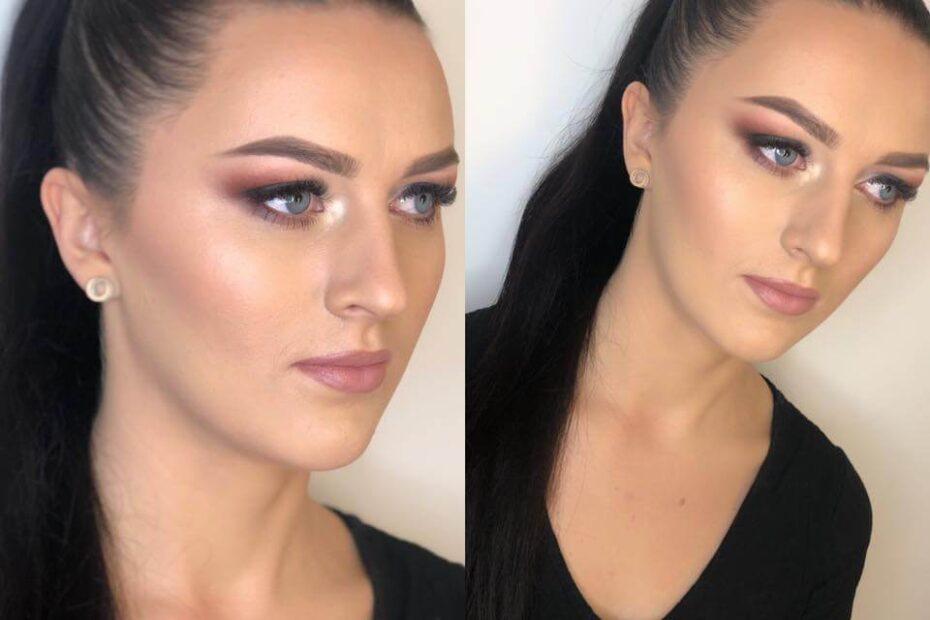przykład makijażu na wieczorne wyjście z podkreślonym okiem