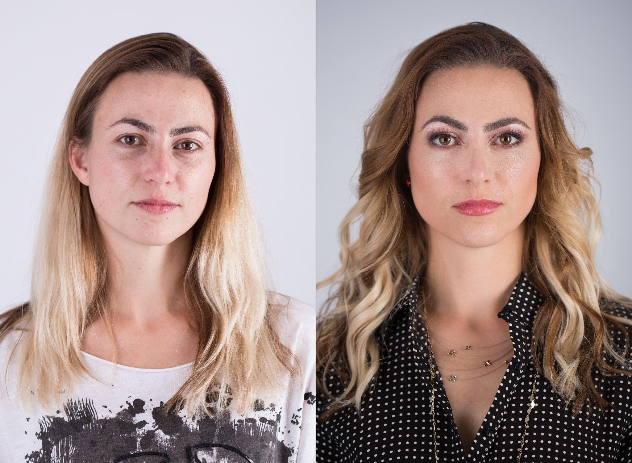 makeup Wrocław przy okazji sesji zdjęciowej. Metamorfoza młodej kobiety przygotowana do artystycznych zdjęć