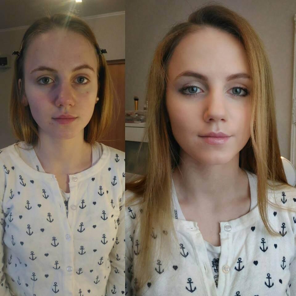 naturalny makeup jako próbny przed ślubem